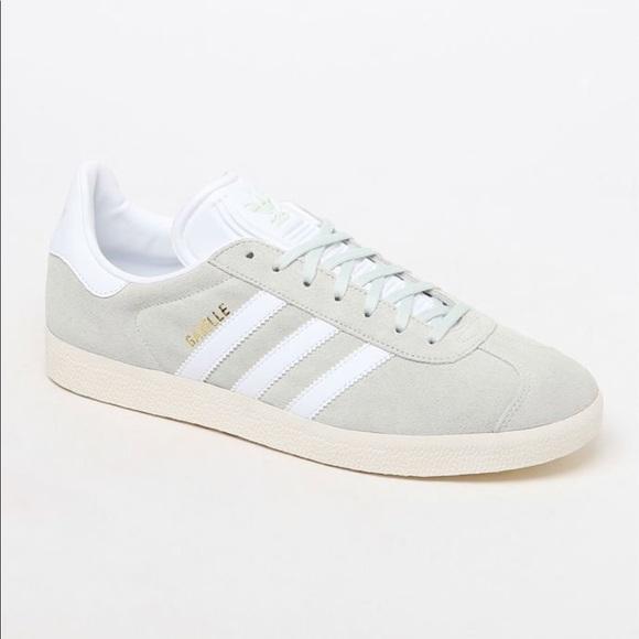 Men's Adidas Gazelle Mint Green & White Shoes 9.5